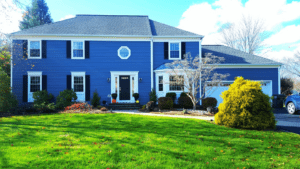 Certainteed Vinyl Clapboard Siding in Blue by Markey Windows, Doors and More in Hillsborough, NJ