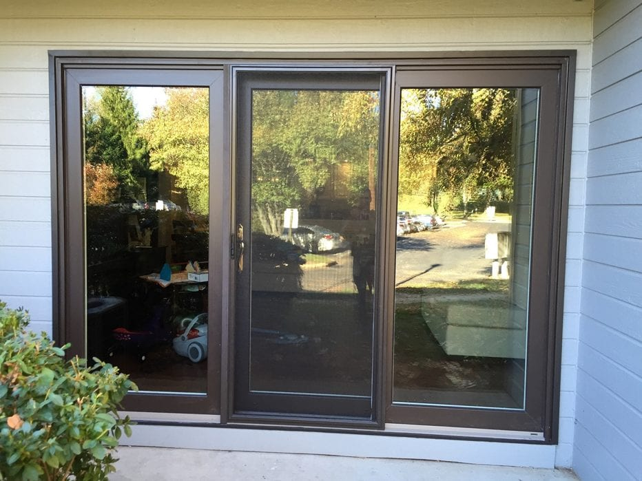 Okna Elegante 9 foot sliding door installed by markey windows doors and more