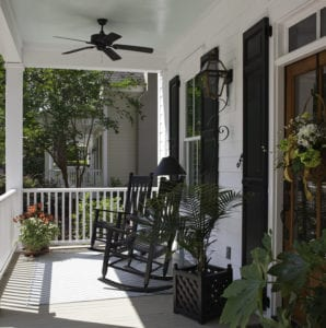 Front Porch - Raised Panel Shutters