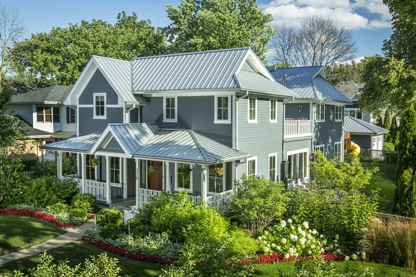 James Hardie Plank siding w metal roof custom